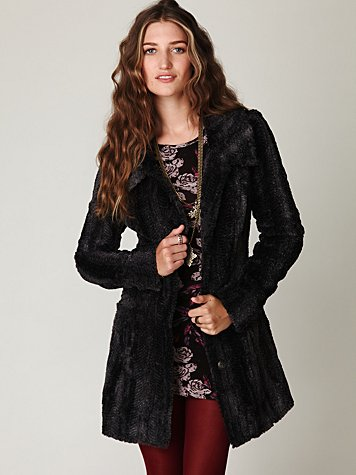 Long and Lean Faux Fur Coat