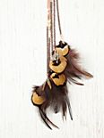 Beaded Feather Hair Clip