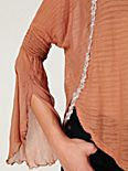 FP New Romantics Bell Sleeve Chiffon Top