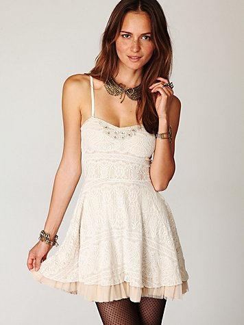 Scallop Strapless Dress