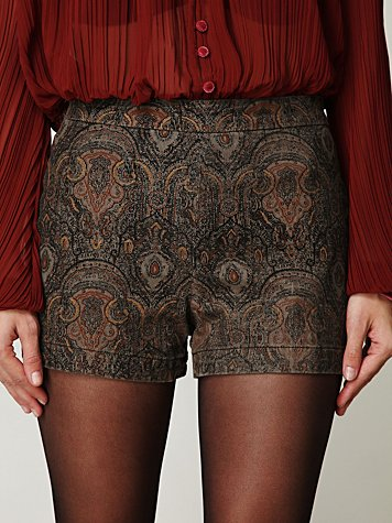 FP High Waisted Printed Shorts