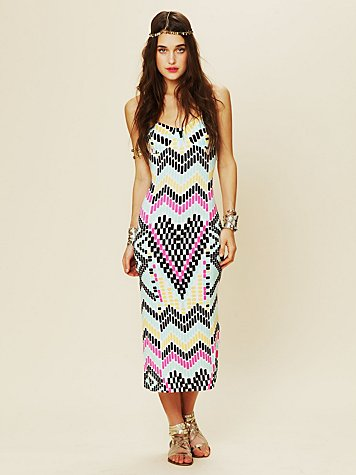 Mara Hoffman Fitted Midcalf Dress