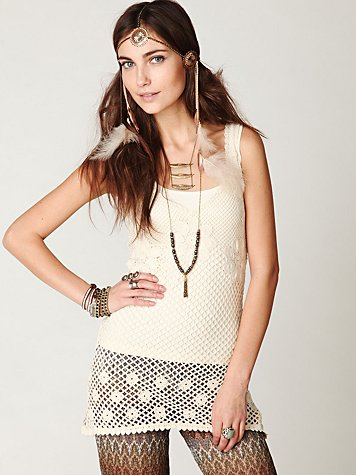 Engineered Crochet Tank