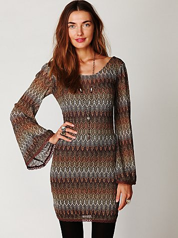 Multi Color Gypsy Lace Dress