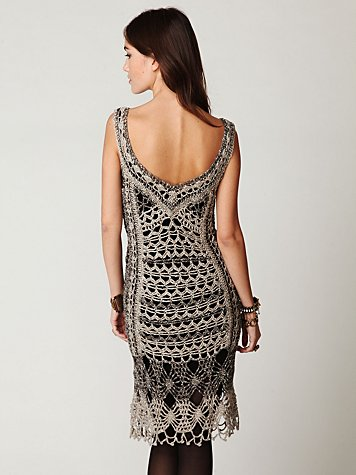 FP SPUN Roaring 20s Crochet Dress