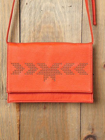 Free People Nailhead Crossbody Clutch