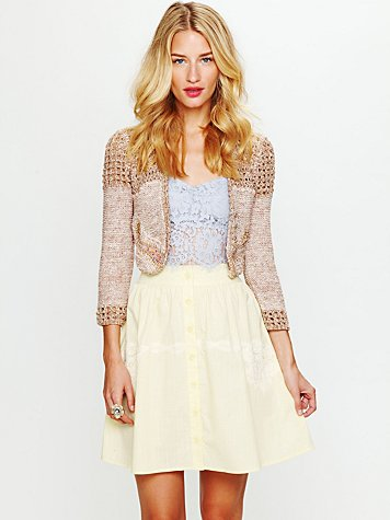 Free People Battenburg Poplin Skirt