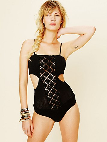 Nightcap Diamond Crochet Bodysuit