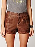 Washed Vegan Leather Short