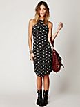 Floral Shirt Tail Pucker Dress