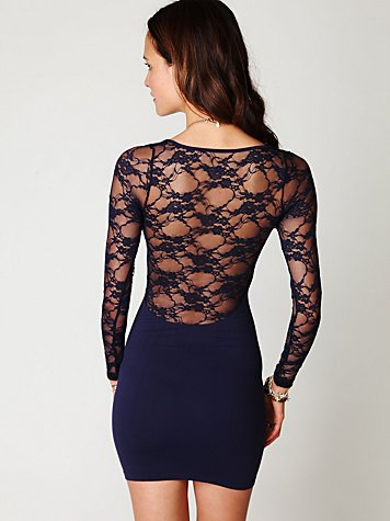 Ginger Long Sleeve Lace Back Tunic