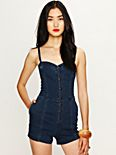 Sweetheart Denim Romper