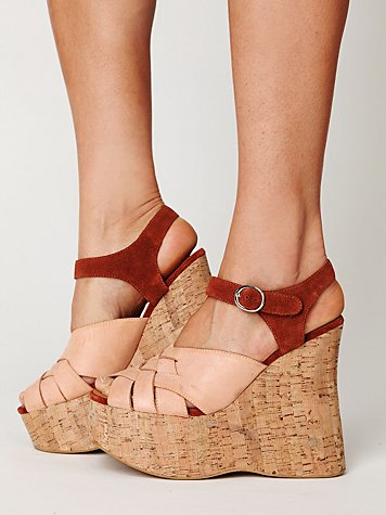 Jeffrey Campbell Darcy Cork Wedge