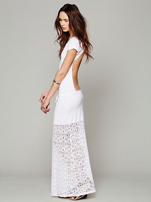 Dreamcatcher Open Back Maxi Dress in knit-jersey