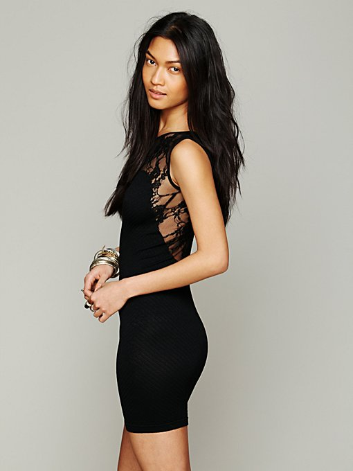 Intimately Free People Sweetheart with Lace Slip in Backless-Dresses