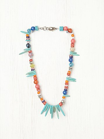 Dannijo Alina Turquoise and Bead Necklace