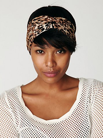 Free People Leopard Turban