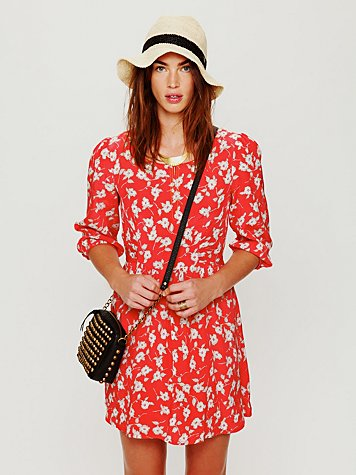 Free People Super Cool Girl Fit-N-Flare Dress