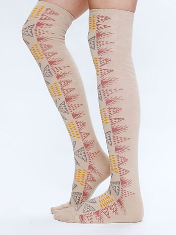 Free People Aztec Tall Sock