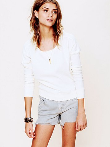 Free People Colored Denim Cutoff Shorts