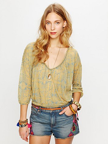Saffron Fields Embellished Tee