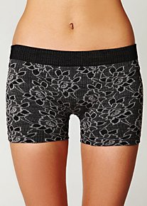 Intarsia Floral Boyshort in Intimates-lingerie-undies