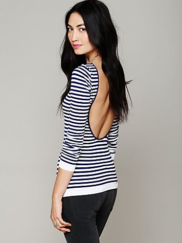Intimately Striped Low Back Top