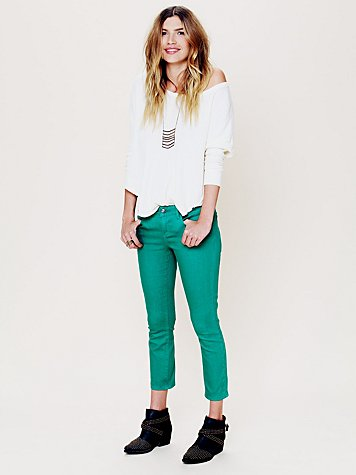 5 Pocket Ankle Crop