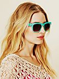 Lace Print Sunglasses
