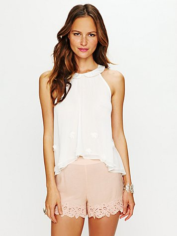 Molly Flower Sheer Top