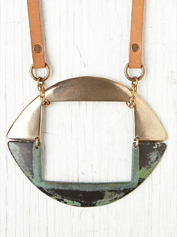 Annie Costello Brown Horizon Bronze Collar