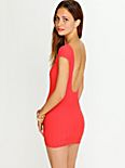 Ribbed Low Back Bodycon