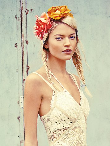 Free People Floral Braided Headdress