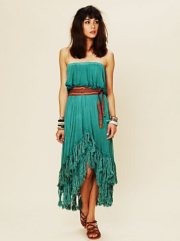 Fringed Goddess Long Dress