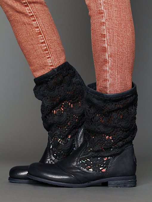 Free People Crochet Slouch Boot in Boots