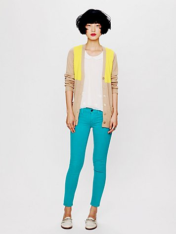 Free People Color Ankle Crop Skinny