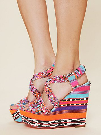 Betsey Johnson Palm Beach Wedge