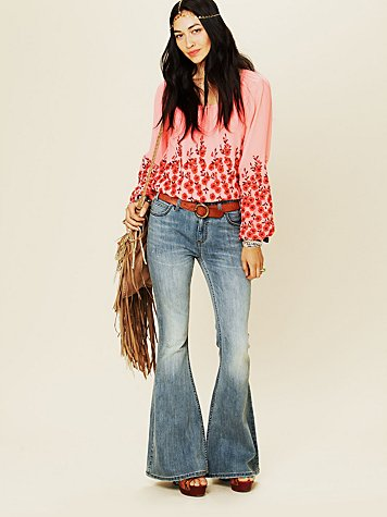 Free People Mid Rise City Kick Flare
