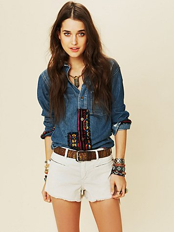 Corduroy Cutoffs with Zipper Pockets