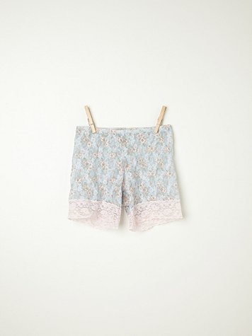 Printed Lace Bike Shorts