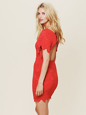 Nightcap Flutter Spanish Lace Dress