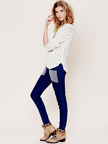 Nightcap Embroidered Patch Skinny Jean