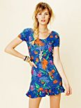 Betsey Print Short Sleeve Dress