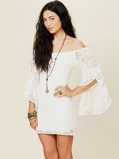 French Bardot Lace Tunic
