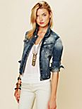 Diamond Embroidered Denim Jacket