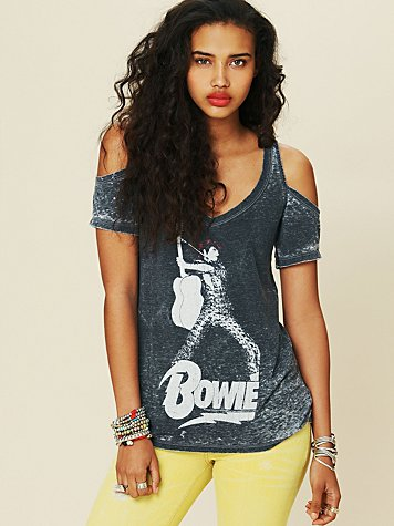 Chaser Bowie Cold Shoulder Tee