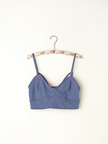 Shimmer Strappy Back Crop Bra