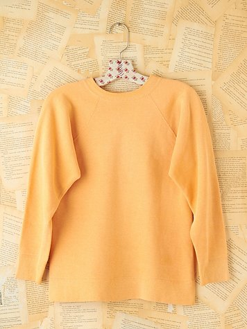 Free People Vintage Orange Pullover Sweatshirt