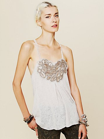 Free People Persephone Beaded Tank