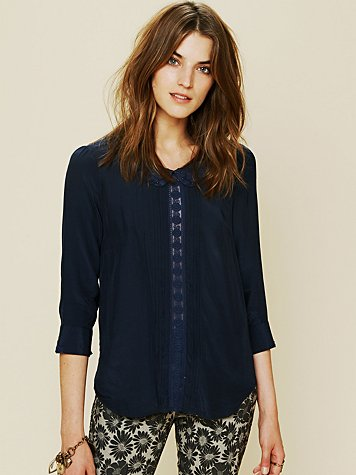 Free People Molly Beaded Top
